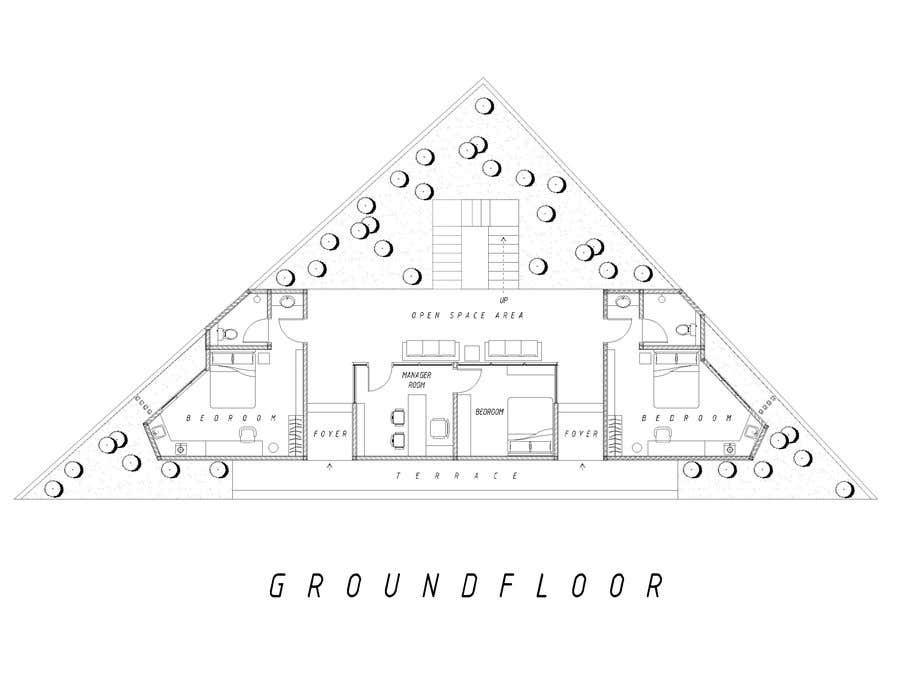 Konkurrenceindlæg #29 for Floor Plan needed for a student residence