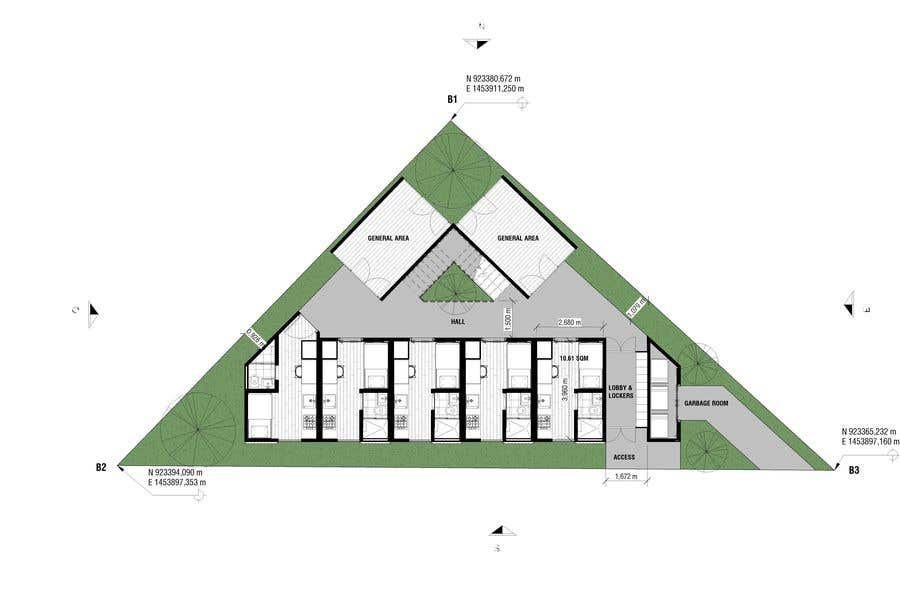Proposition n°54 du concours Floor Plan needed for a student residence