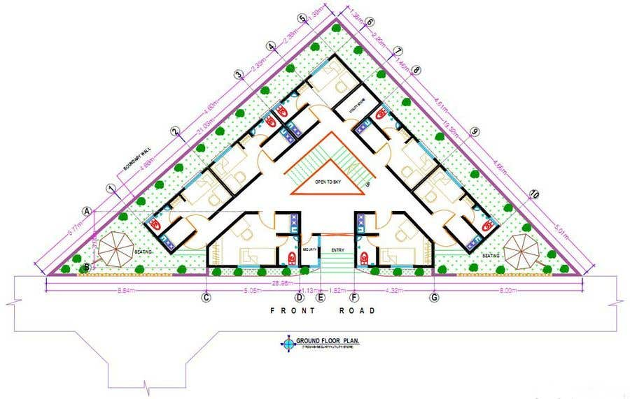 Proposition n°35 du concours Floor Plan needed for a student residence