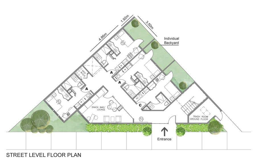 Proposition n°45 du concours Floor Plan needed for a student residence