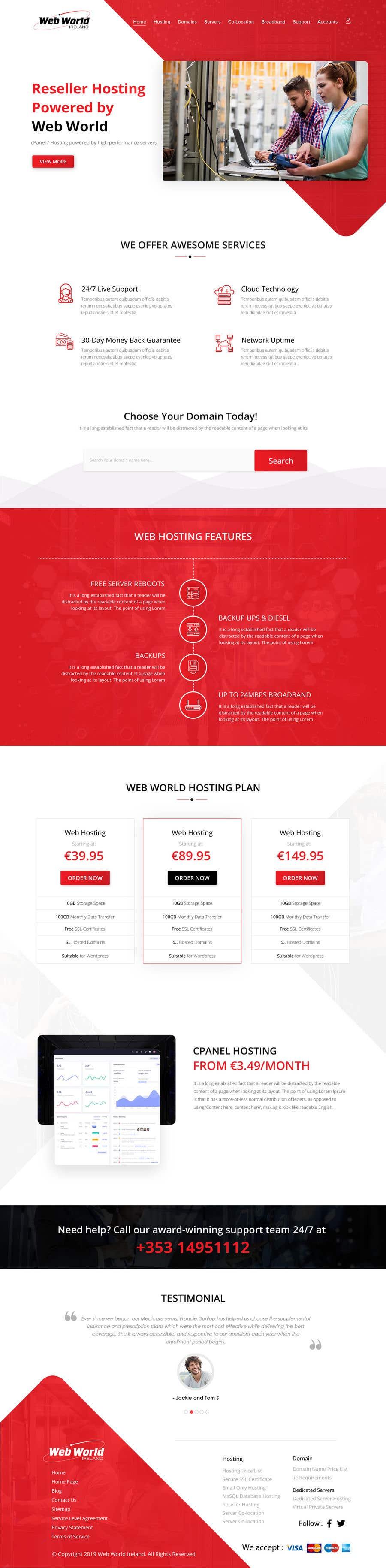 Kilpailutyö #62 kilpailussa Creative holding page for hosting company