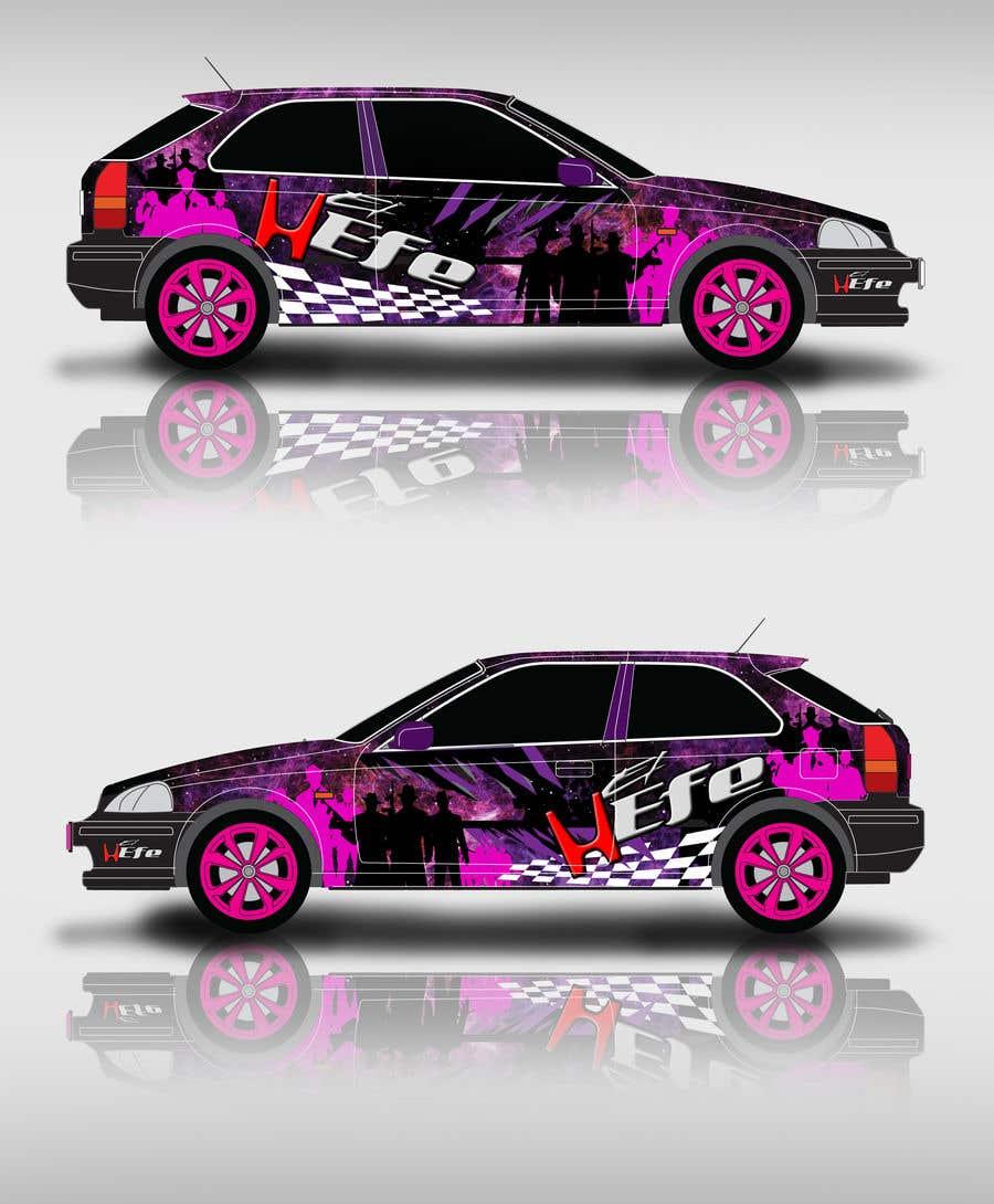Penyertaan Peraduan #11 untuk Full Color Gangster Wrap Design for Honda race car