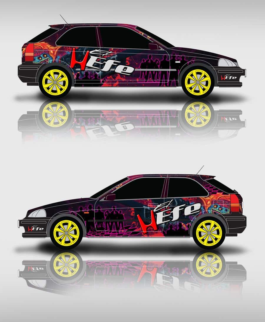 Penyertaan Peraduan #14 untuk Full Color Gangster Wrap Design for Honda race car