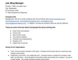 #13 for Apply for my Blog Manager Job and the Winner gets $100 and a job! by Harosha33