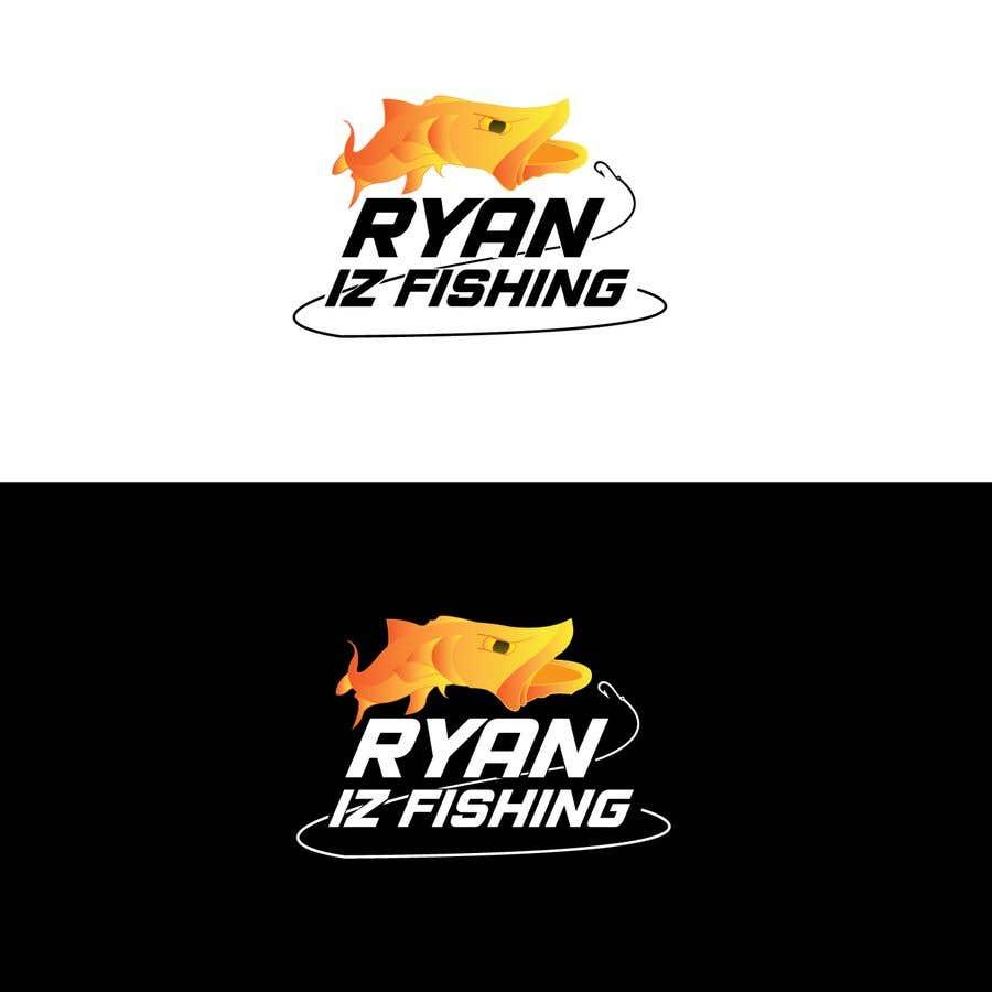 """Kilpailutyö #53 kilpailussa Create a Fishing Logo """"RYAN IZ FISHING"""""""