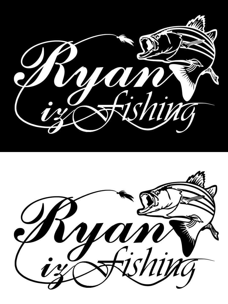 """Kilpailutyö #212 kilpailussa Create a Fishing Logo """"RYAN IZ FISHING"""""""