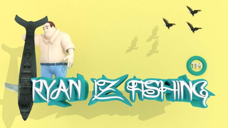"""Kilpailutyö #366 kilpailussa Create a Fishing Logo """"RYAN IZ FISHING"""""""