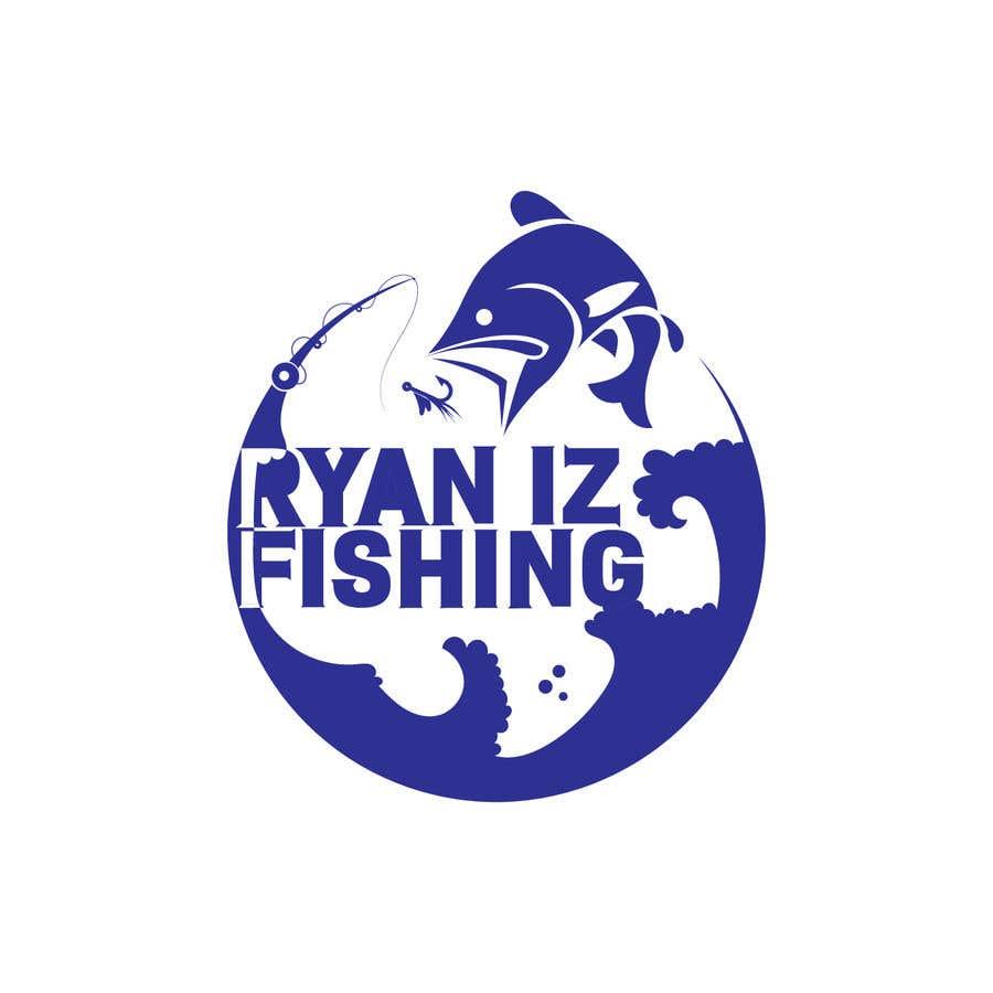"""Kilpailutyö #396 kilpailussa Create a Fishing Logo """"RYAN IZ FISHING"""""""