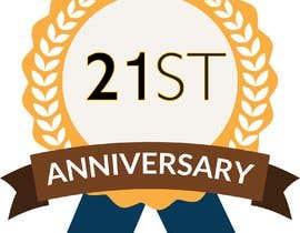 #9 untuk 21st Anniversary Logo oleh HamzaJani12