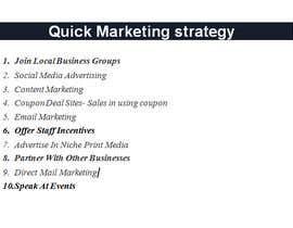 Nro 5 kilpailuun Quick Marketing strategy käyttäjältä ovichowdhury