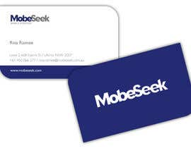 #10 para Business Card Design for MobeSeek de rozzie