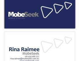 #38 สำหรับ Business Card Design for MobeSeek โดย eliespinas