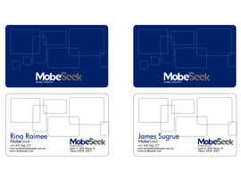 #88 para Business Card Design for MobeSeek de nunocnh