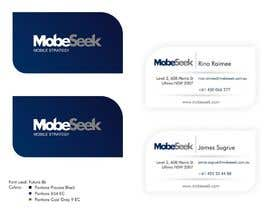 #86 , Business Card Design for MobeSeek 来自 danmandiuc