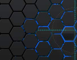 #72 for Backdrop: DARPA Black/Stylized Hexagon Pattern by airinbegumpayel