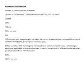 Nro 45 kilpailuun Provide candid feedback about Freelancer käyttäjältä MartEsquire