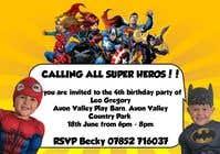 Proposition n° 15 du concours Graphic Design pour Create a superhero theme birthday invite