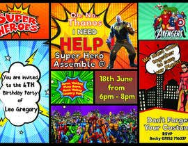 nº 77 pour Create a superhero theme birthday invite par LionelGomes