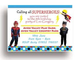 nº 8 pour Create a superhero theme birthday invite par AnikYousuf