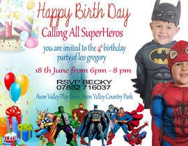 nº 71 pour Create a superhero theme birthday invite par ashfaqadil54