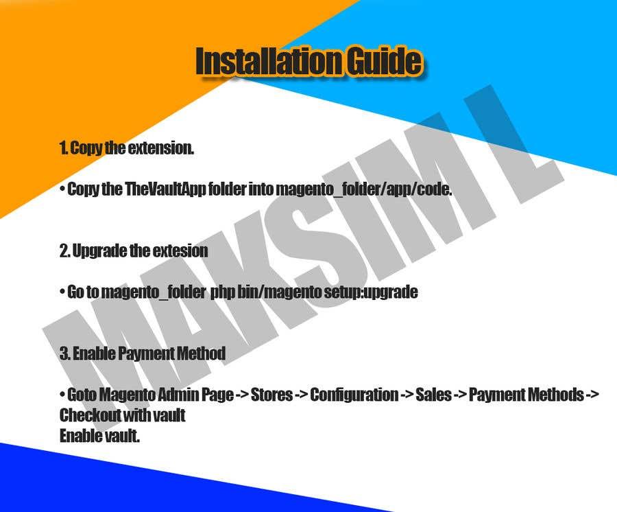 Kilpailutyö #                                        1                                      kilpailussa                                         Make an Installation PDF - Need Fast