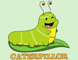 #38 untuk Create a cute caterpillar as the mascot logo for School accessories business oleh gallipoli