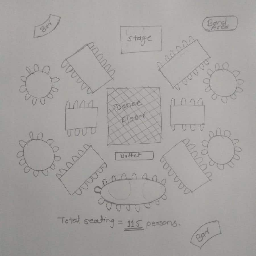 Proposition n°8 du concours Hand drawn seating plan (multiple winners!)