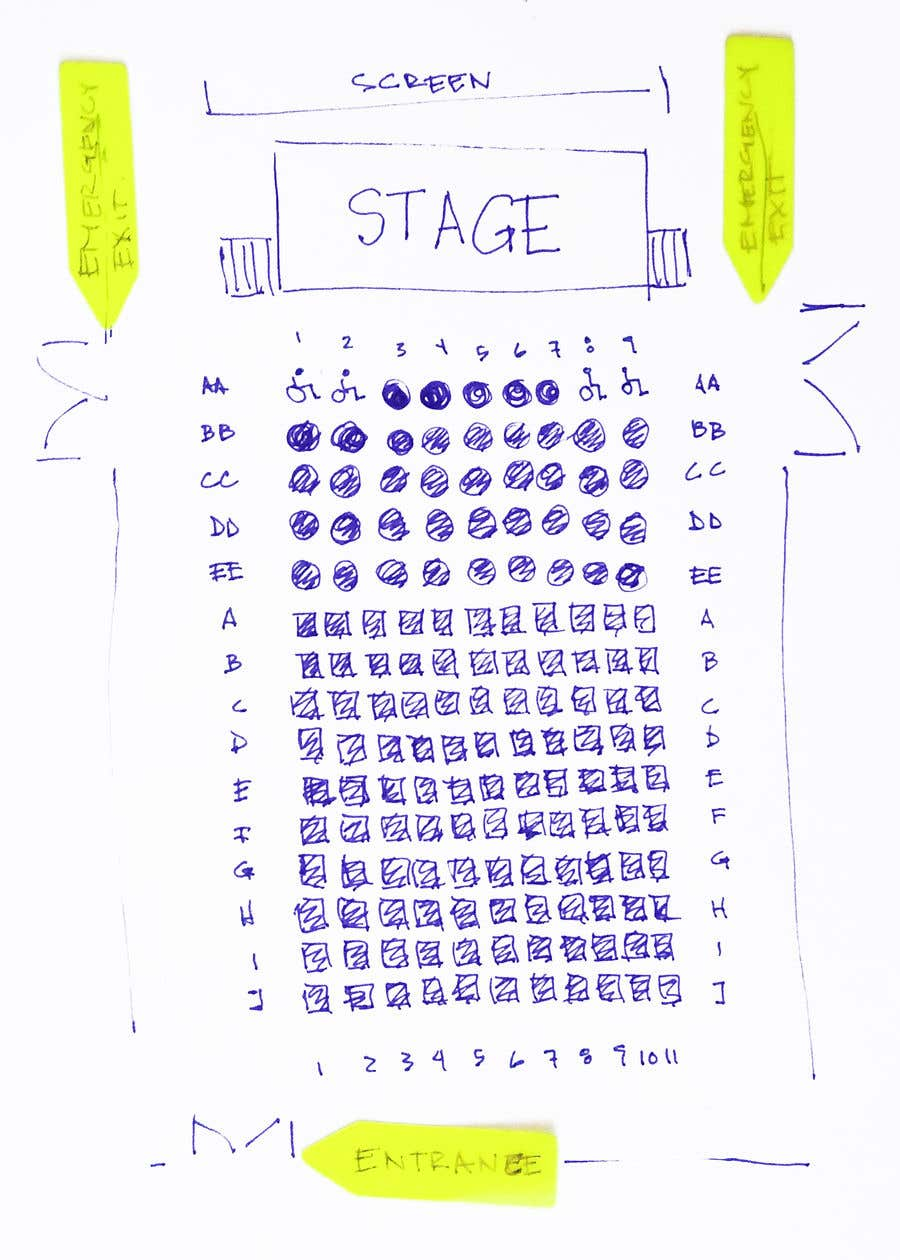 Proposition n°54 du concours Hand drawn seating plan (multiple winners!)