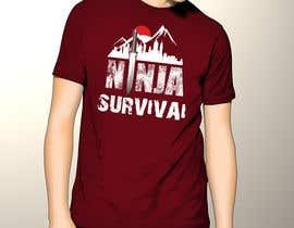 #63 для Ninja Survival t-shirt design от amit1sadukha
