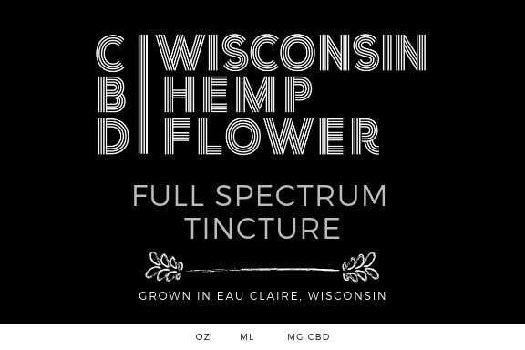 Entry #9 by DesignerZ506 for Label for Wisconsin Hemp Flower CBD Oil