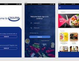 #44 for Build a mobile UI for online food ordering app by bagyagunawardane