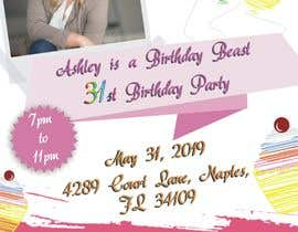 #36 for Ashley is a Birthday Beast 31st Birthday Party Flyer af mindlogicsmdu
