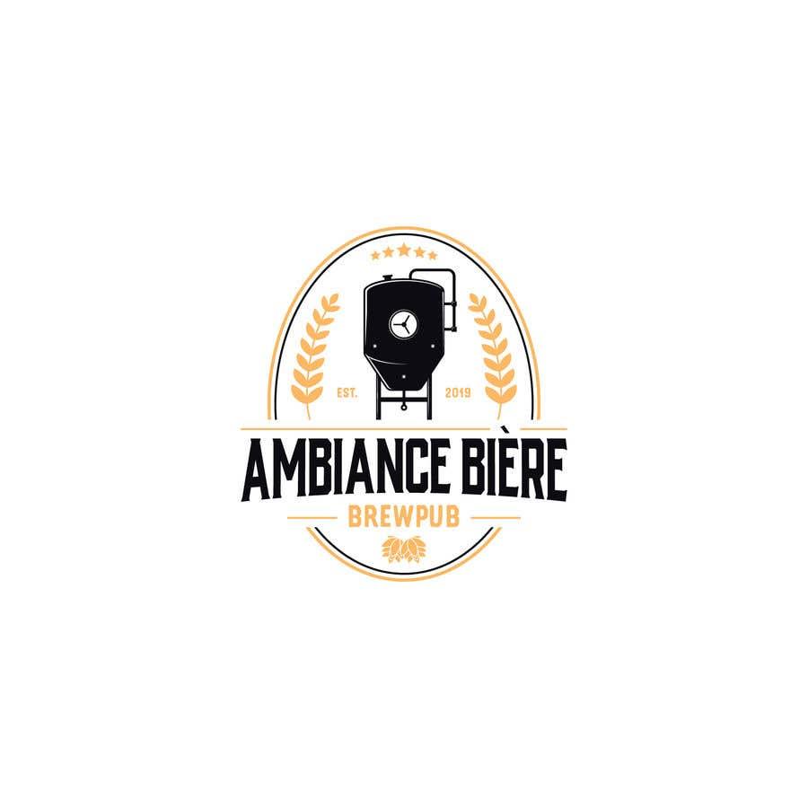 """Penyertaan Peraduan #83 untuk Logo for a brewpub called """"Ambiance bière"""""""