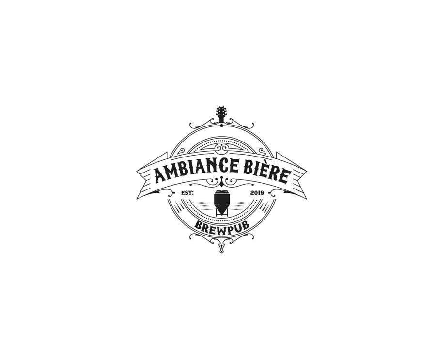 """Penyertaan Peraduan #129 untuk Logo for a brewpub called """"Ambiance bière"""""""