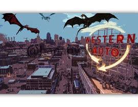 Nro 1 kilpailuun Original Art using Kansas City Iconic Scenes and Fantastical Things. käyttäjältä Hannahyan