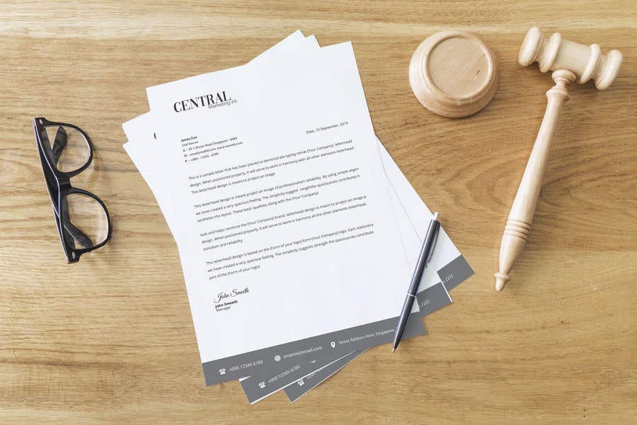 Penyertaan Peraduan #44 untuk Create a Letterhead