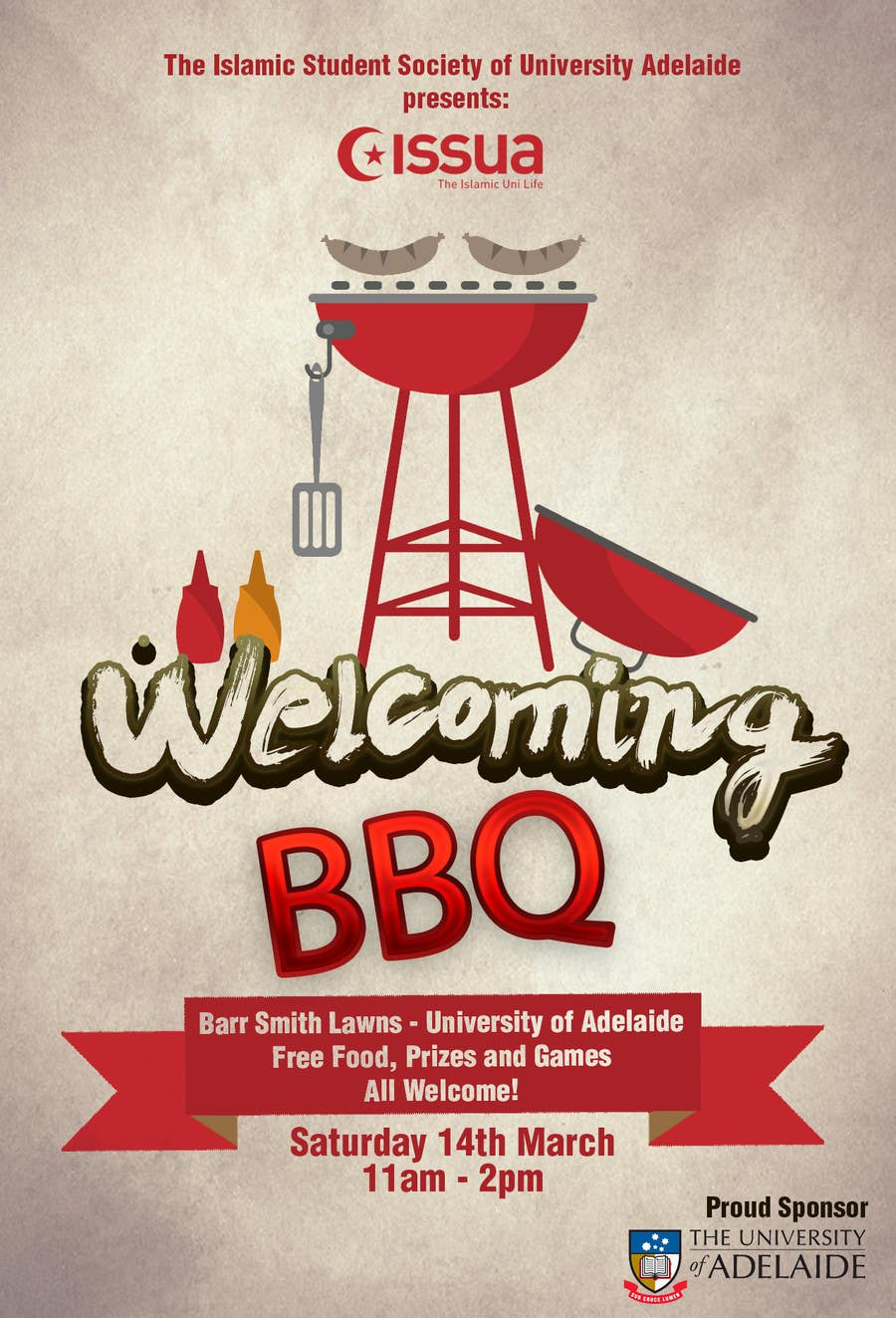 entry 12 by subzeromenon for university welcoming bbq flyer