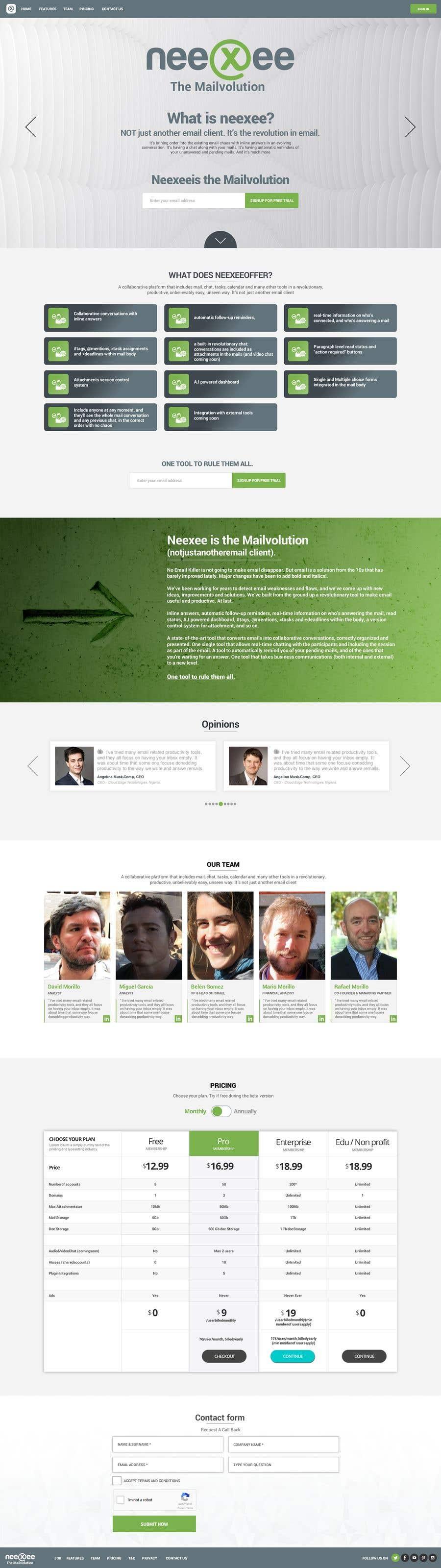 Конкурсная заявка №23 для Home site (single HTML page) for a new coming soon webmail service