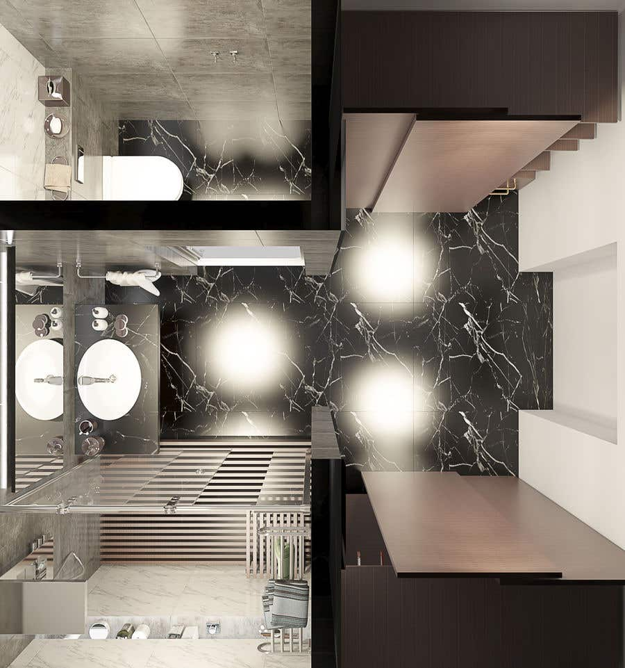 Contest Entry #27 for Design a bathroom Layout/ rendering