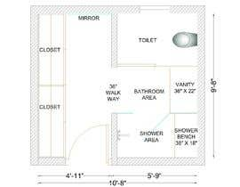 #13 cho Design a bathroom Layout/ rendering bởi ssquaredesign