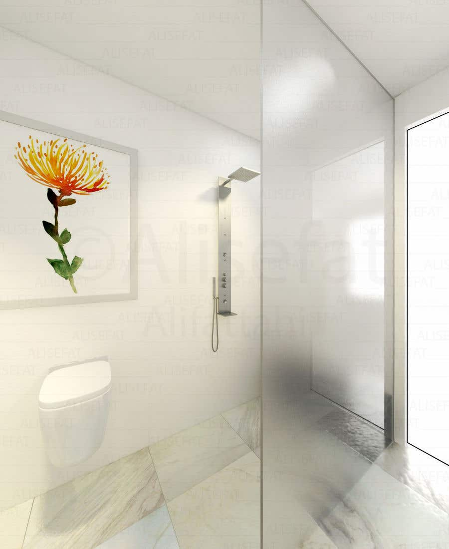 Contest Entry #39 for Design a bathroom Layout/ rendering