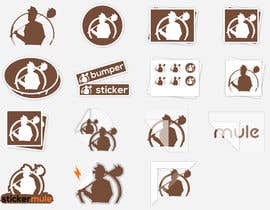 #47 for Design Simple Sticker Image like stickermule by Shuvomonisha