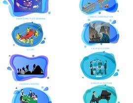 Nro 17 kilpailuun Illustrate 8 pictures for a digital presentation käyttäjältä denkokaja