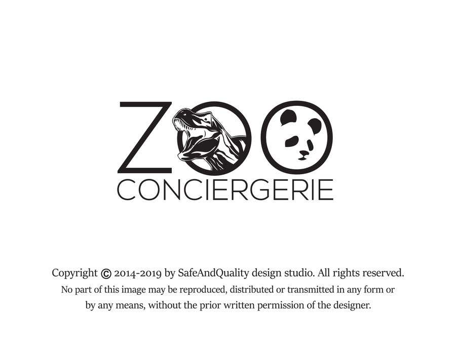 """Konkurrenceindlæg #49 for logo for a project. It is a Pet/Zoo Store called """"Zoo Conciergerie"""""""