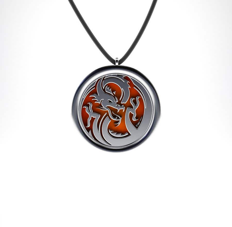 Penyertaan Peraduan #23 untuk Stainless Steel Jewelry Designs - Dragon Oil Diffuser Locket