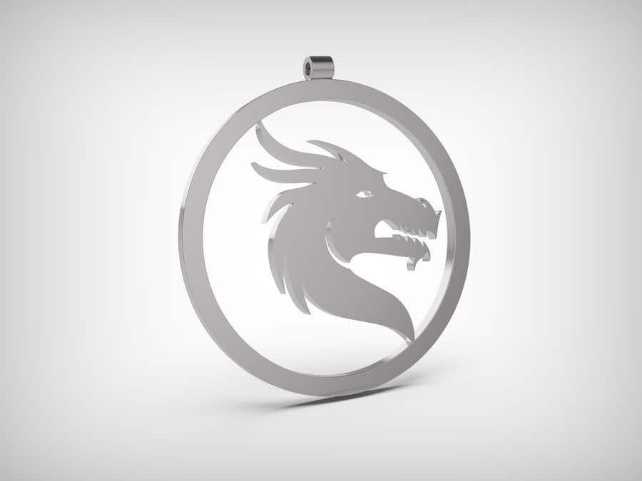 Kilpailutyö #36 kilpailussa Stainless Steel Jewelry Designs - Dragon Oil Diffuser Locket