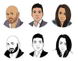 #38 para Sketches of head shots for website por Kenjinx