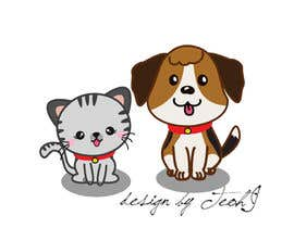 Nro 17 kilpailuun cat and dog cartoon logo käyttäjältä crazyteoh