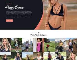 Nro 47 kilpailuun Design Home Screen for Mobile Responsive Website for an Instagram model käyttäjältä saidesigner87