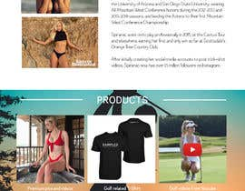 Nro 39 kilpailuun Design Home Screen for Mobile Responsive Website for an Instagram model käyttäjältä MaksimLu